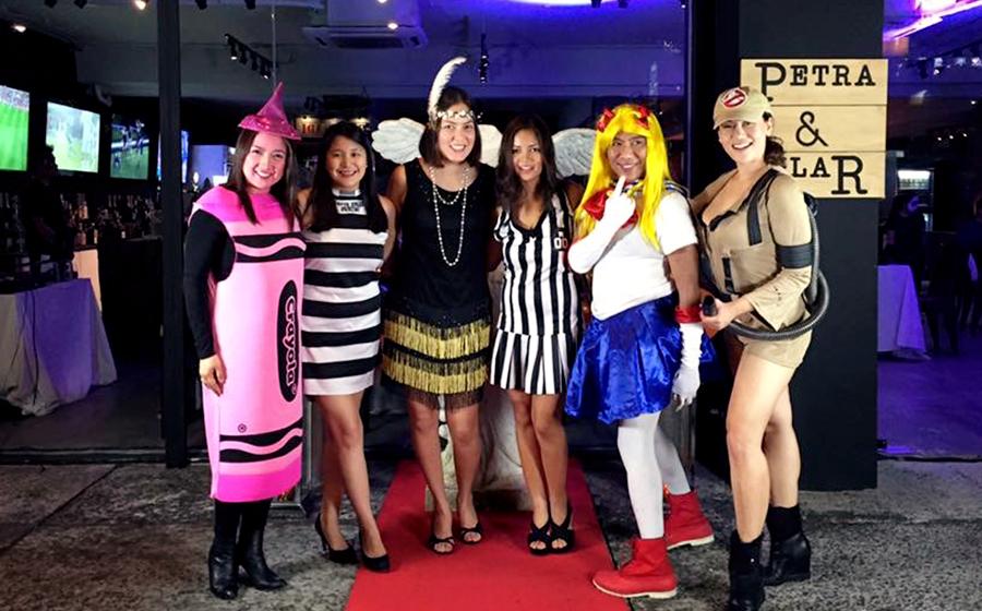 L-R: Lala Dinglasan, Theresa Leung, Monica Araneta, Noelle Hilario, Frank Briones and Cristalle Belo