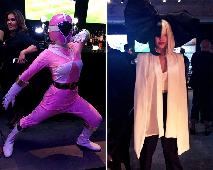 L-R: Bubbles Paraiso as a Power Ranger and Joanna del Rosario as Sia